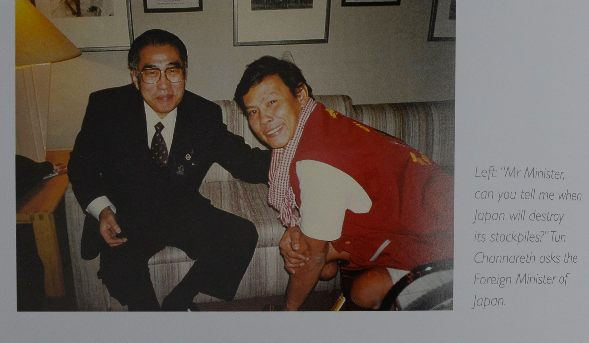 Tun Channareth and Foreign Minister of Japan